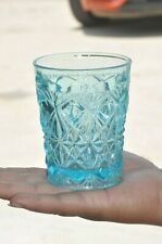 Vintage Diamond & Check Embossed Design Water/Juice Glass/Tumblers