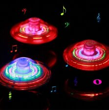 Kids UFO Spinning Top Light Up Flashing Laser Music Sound Tops Electronic ToyFBC