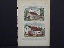 American Farmer, Barn, Farm Equipment c.1880 #32 Cheap Dairy Barn