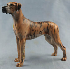 deutsche dogge figur hund North light hundefigur great dane alabaster brindle