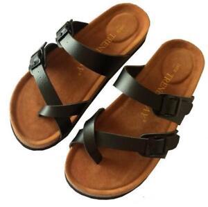 Womens Mayari Post Cork Toe Slippers Flip Flops Thongs Shoes Buckle Mule Sandals