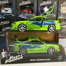 Jada 1:24 Fast And Furious Brian's Mitsubishi Eclipse  Diecast Car Model Toy