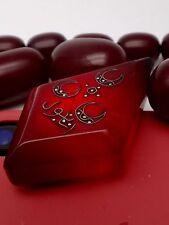 ANTIQUE OTTOMAN TURKISH FATURAN RED CHERRY AMBER BAKELITE & SILVER NECKLACE 88g
