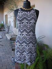 L-O-V-E~! VICTORIA'S SECRET PINK Black White Geo Mini Racer Beach Sun Dress L