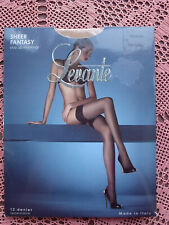 LEVANTE Sheer Fantasy 12 Denier Lace Top Stay Up Stockings - NATUREL Medium