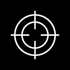 Crosshairs vinyl sticker decal target hunting sniper