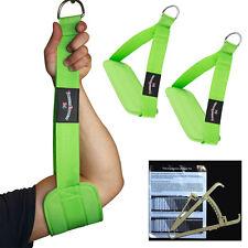 Bauchmuskelschlaufen, Gut-Blaster-Slings Neongrün + Körperfettmesszange NEU