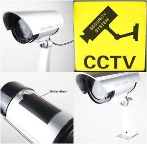Dummy Fake Sicherheitskamera Kamera Sicherheit Video Videokamera LED-Blinklicht