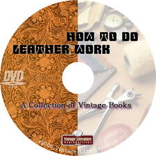 How To Do Leatherwork { 10 Vintage Pattern Books } on DVD