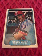 Minnesota Twins Autographed Chuck Baker Baseball Card! 1982 Fleer Baseball Card!