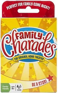 Family Charades Card Game by Outset Media - Travel Friendly Family Charades Game