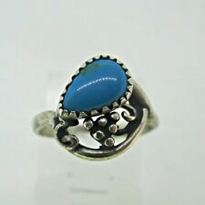 Wheeler Ring Size 4 Sterling Silver Turquoise Stone