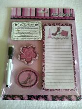 Personal Message Center Animal Notes Pad Magnets Board Dry Erase Magnetic Pink