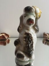 Vintage Anthropomorphic Poodle Figurine with Beret-Japan
