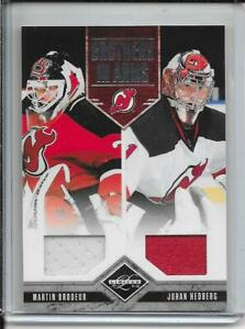 11-12 Limited Brodeur/Hedberg Brothers In Arms Dual Jersey # 6 #d/199