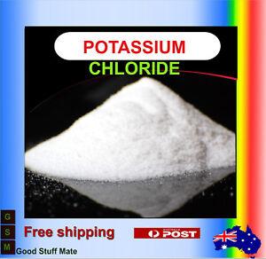 ORGANIC Potassium Chloride Powder PURE Salt Substitute Food Grade Vegan Natural