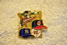 New York Yankees vs. Cleveland Indians 1998 ALCS Enameled Pin! 3 Dimensional!!