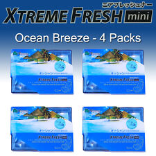4 PACK TREEFROG FRESH BOX MINI OCEAN BREEZE SCENT AIR FRESHENER NEW JDM PRODUCTS