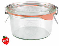 SET:*12/12/24 WECK Sturzglas 165 ml +Ringe & Klammern,Sturz Glas Marmelade Pesto