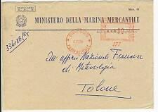 LETTRE ITALIE ITALIA / MINISTERO DELLA MARINA MERCANTILE ROMA / TOULON 1954