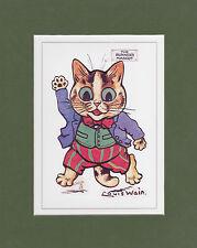 MOUNTED LOUIS WAIN CAT PRINT  -  MASCOTS  -  THE  RUNNERS  MASCOT
