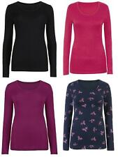 Ex M S Womens Thermal Wear Heatgen Long Comfort Soft Sleeve Top Sizes 8 to 22