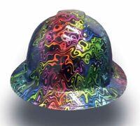 Shaw Nau... Texas America Safety Company Hydro Dipped Full Brim Style Hard Hat