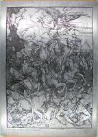 plaque photogravure, Les quatre cavaliers de l'apocalypse, Albert Durer