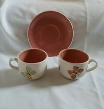 ❀ڿڰۣ❀ JALIANG COLLECTION China BUTTERFLY DESIGN Two CUPS & One SAUCER ❀ڿڰۣ❀