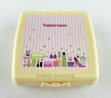 1 x Tupperware Yellow Sandwich Lunch Box Keeper For Kids With Prints