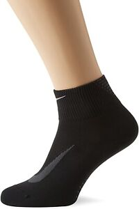 Nike Unisex 179070 Elite Lightweight 2.0 Quarter Running Socks Size M