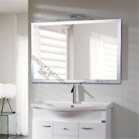 1200 x900x5mm Frameless Bathroom Mirrors Bevel Edge Wall Mounted Large Rectangle