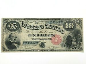 1880 $10 LEGAL TENDER - Fr. 112 - Jackass - KEY NOTE - Fine