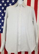 Robert Talbott White Long Sleeve Dress Shirt Men's 16-36 French Cuffs USA