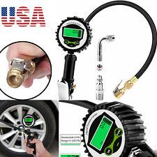LCD Electric Digital 200PSI Tire Pressure Gauge Inflator Gauge Rubber Air Hose