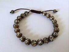 Tibetan mala Carved Conch Shell Wrist mala/ Bracelet for meditation