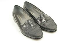 Dinofrascati Mens 13M Black Genuine Snake Leather Upper Sole Dress Casual Loafer