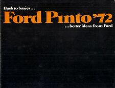 Ford Pinto 1971-72 USA Market Sales Brochure Sedan Runabout Station Wagon