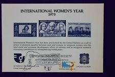 Cps 1975 stamp expo Intl Women's Year Chicago Philatelic Souvenir card page