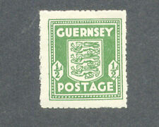 Guernsey-Wartime Halfpenny olive green very fine mnh