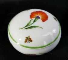 "Tiffany & Co Limoges Garden Porcelain Trinket Ring Box Butterfly 2.5"" Mint"