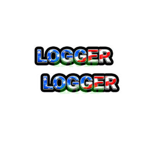 Logger US Flag Lunch Box Hard Hat Tool Box USA Helmet Sticker 2 Pack 9 inch