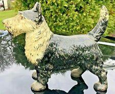 New ListingAntique c1890 Hubley Cast Iron Door Stop Doorstop Scotty Dog Scottish Terrier