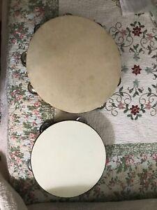 vintage tambourines
