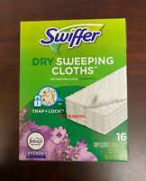 Swiffer Sweeper Dry Sweeping Pad Floor Mopping Cleaning Refills ~ Lavender 16 Ct