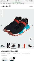 "Pharrell Williams x Adidas NMD Hu ""Inspiration"" Pack Sz 11 Black"