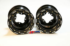 "DWT G2 Black Rear Beadlock Rims Wheels 9"" 4/110 Honda TRX 450R 450ER 250R 400EX"