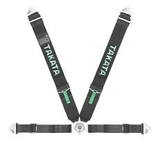 Takata Racing Competition Harness - Race 4 Snap - Black