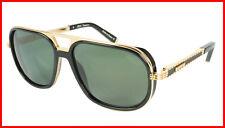 ZILLI Sunglasses Titanium Acetate Leather Polarized France Handmade ZI 65026 C01