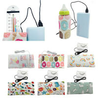 USB Milk Water Warmer Cartoon Stroller Insulated Bag Baby Nursing Bottle Heater
